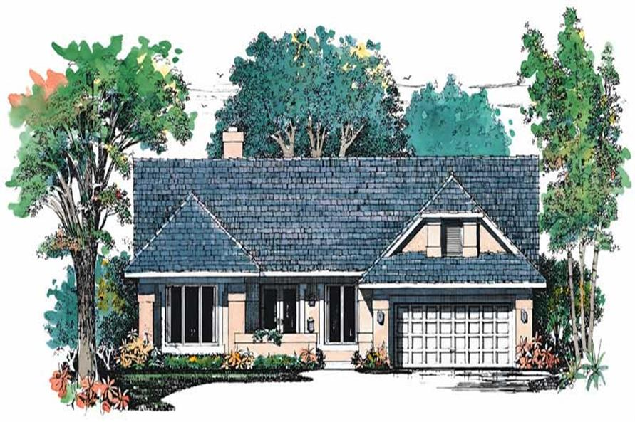 3-Bedroom, 2189 Sq Ft Craftsman House Plan - 137-1400 - Front Exterior