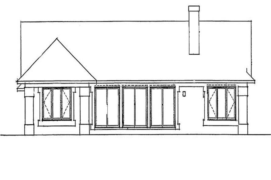 Home Plan Rear Elevation of this 3-Bedroom,2189 Sq Ft Plan -137-1400