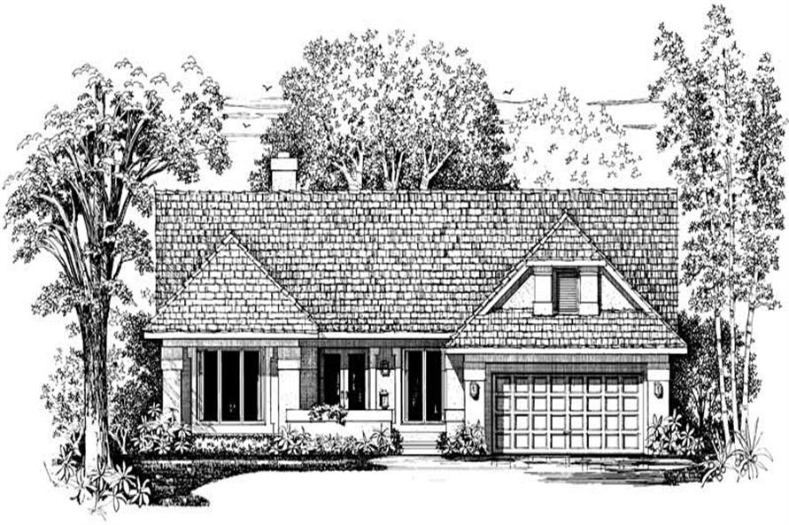 Home Plan Front Elevation of this 3-Bedroom,2189 Sq Ft Plan -137-1400