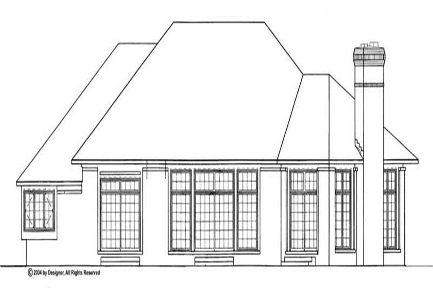 Home Plan Rear Elevation of this 3-Bedroom,2916 Sq Ft Plan -137-1401