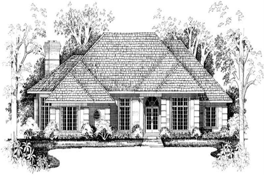 Home Plan Front Elevation of this 3-Bedroom,2916 Sq Ft Plan -137-1401