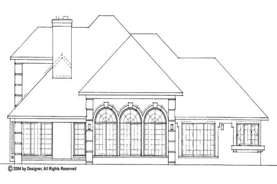 Home Plan Rear Elevation of this 3-Bedroom,2931 Sq Ft Plan -137-1402