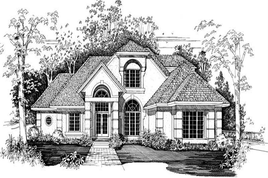 Home Plan Front Elevation of this 3-Bedroom,2931 Sq Ft Plan -137-1402