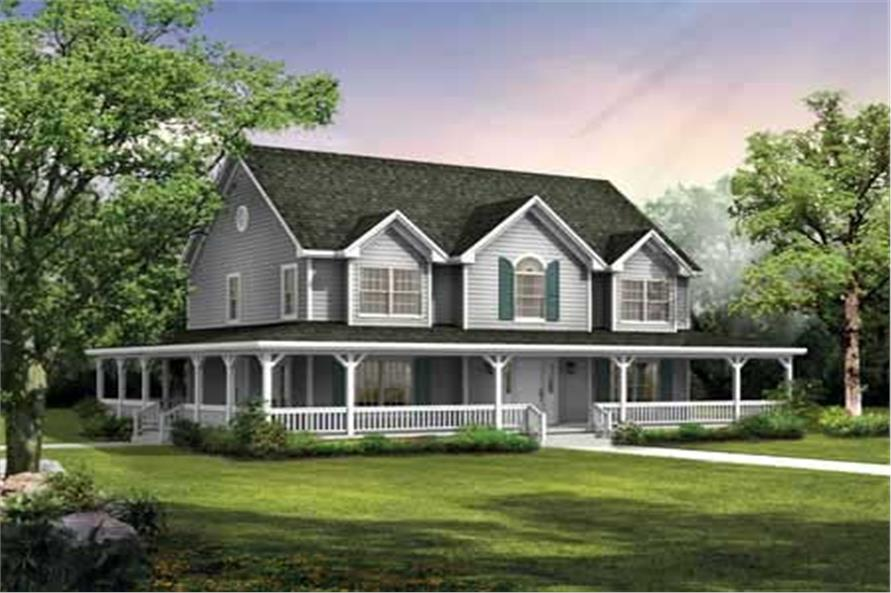 Country Farmhouse House Plans Home Design Hw 3653 18211
