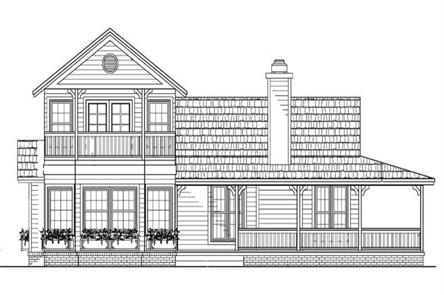 Home Plan Rear Elevation of this 4-Bedroom,1974 Sq Ft Plan -137-1404