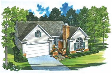 3-Bedroom, 1414 Sq Ft Country Home Plan - 137-1406 - Main Exterior