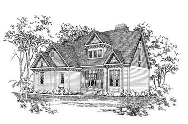3-Bedroom, 2268 Sq Ft Victorian Home Plan - 137-1408 - Main Exterior