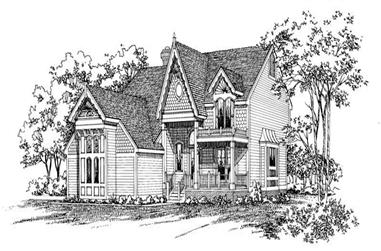 4-Bedroom, 2192 Sq Ft Victorian House Plan - 137-1409 - Front Exterior