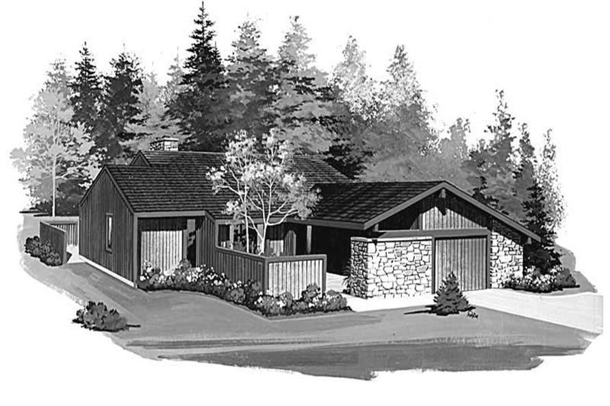2-Bedroom, 1550 Sq Ft Contemporary House Plan - 137-1410 - Front Exterior