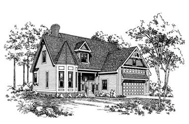 4-Bedroom, 2351 Sq Ft Victorian Home Plan - 137-1411 - Main Exterior