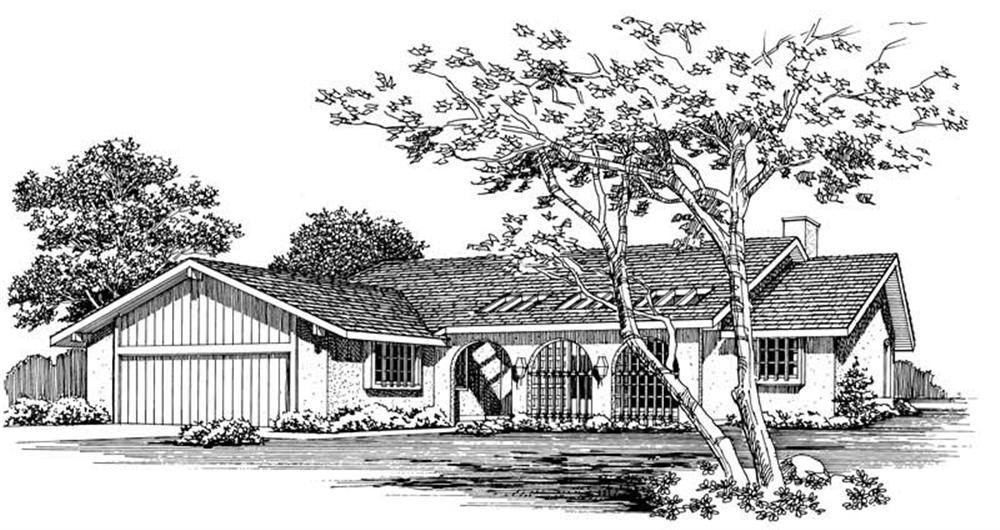 Southwest home (ThePlanCollection: Plan #137-1414)