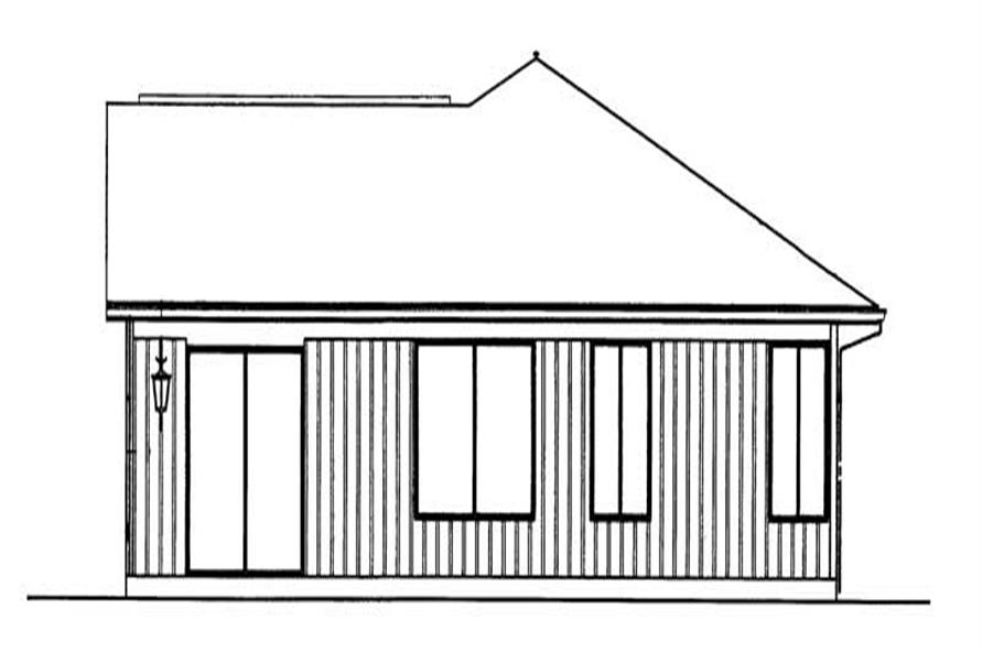 Home Plan Rear Elevation of this 3-Bedroom,1200 Sq Ft Plan -137-1415