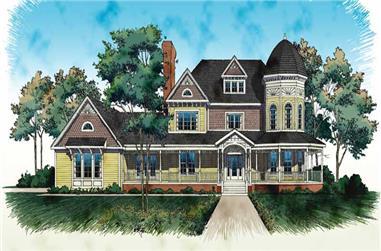 4-Bedroom, 4812 Sq Ft Victorian Home Plan - 137-1416 - Main Exterior