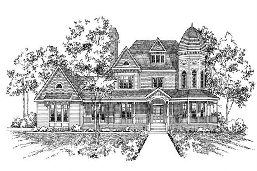 FRONT RENDERING of this 4-Bedroom,4812 Sq Ft Plan -4812