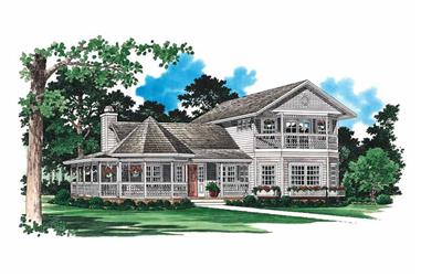 3-Bedroom, 2272 Sq Ft Victorian House Plan - 137-1417 - Front Exterior