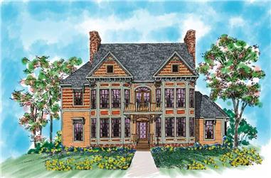 5-Bedroom, 3879 Sq Ft Victorian Home Plan - 137-1418 - Main Exterior