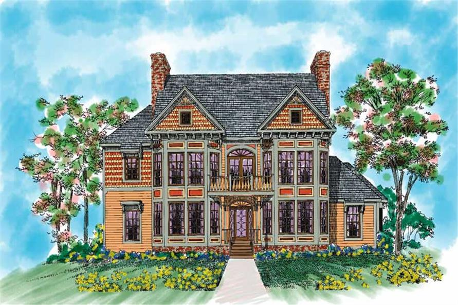 5-Bedroom, 3879 Sq Ft Victorian Home Plan - 137-1418 - Main Exterior