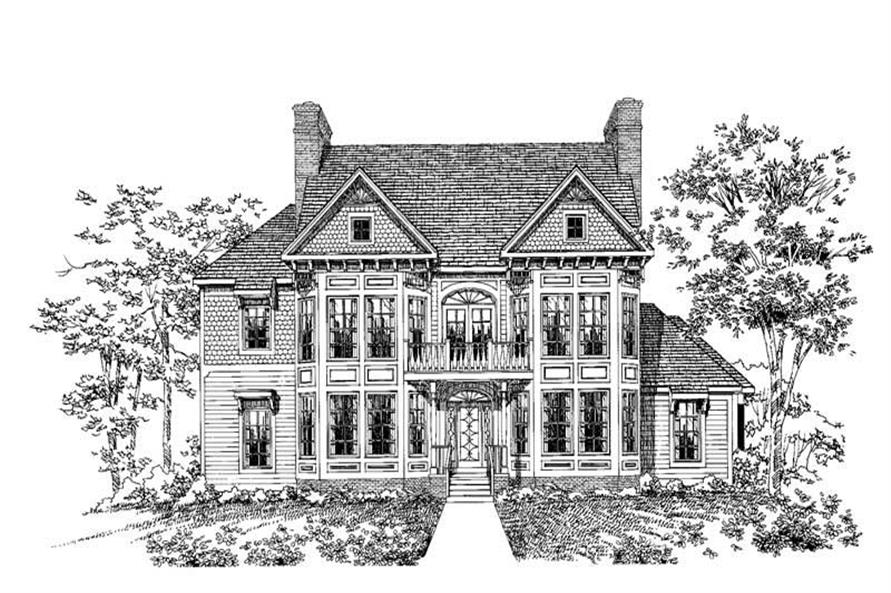 Home Plan Rendering of this 5-Bedroom,3879 Sq Ft Plan -137-1418