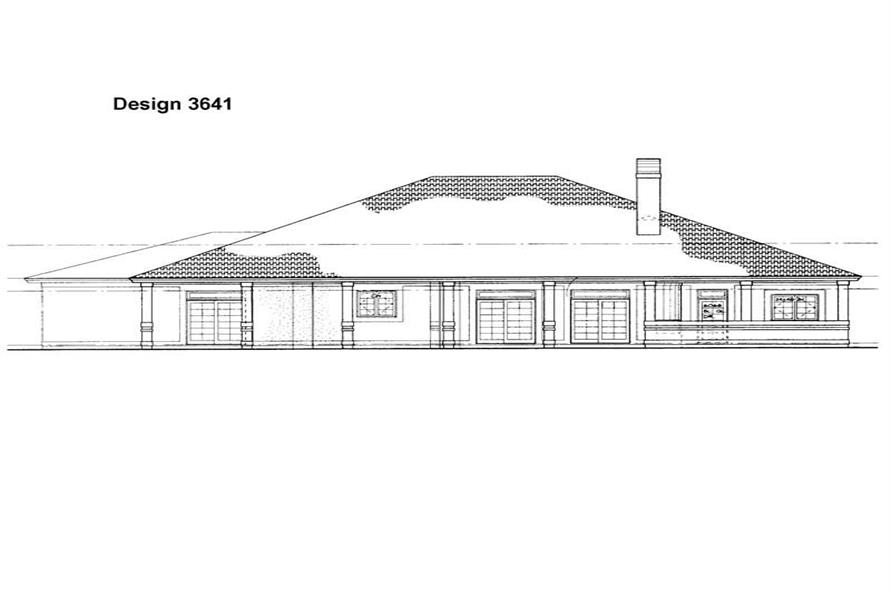 Home Plan Rear Elevation of this 4-Bedroom,2945 Sq Ft Plan -137-1419
