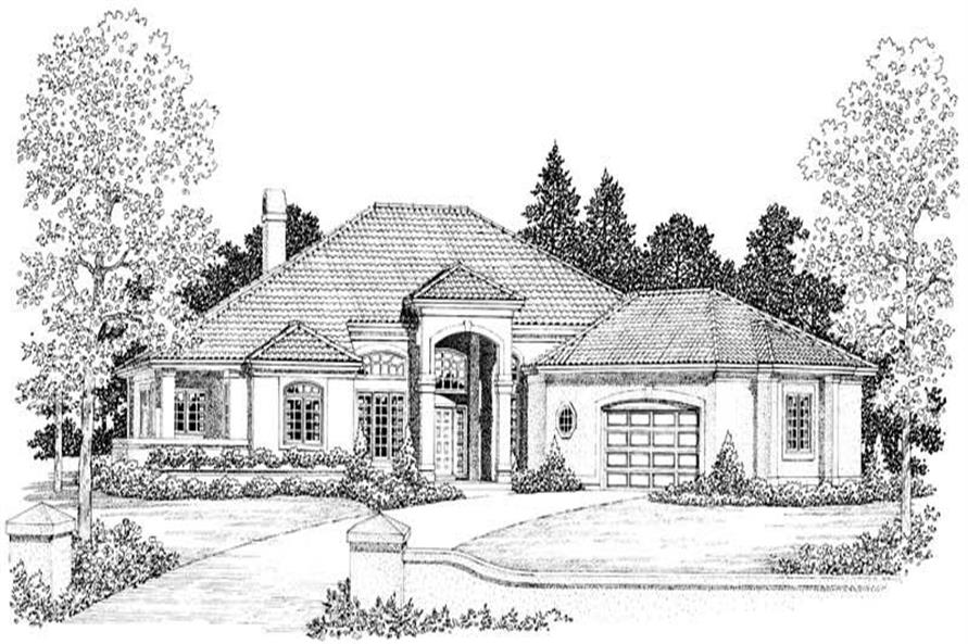 Home Plan Front Elevation of this 4-Bedroom,2945 Sq Ft Plan -137-1419