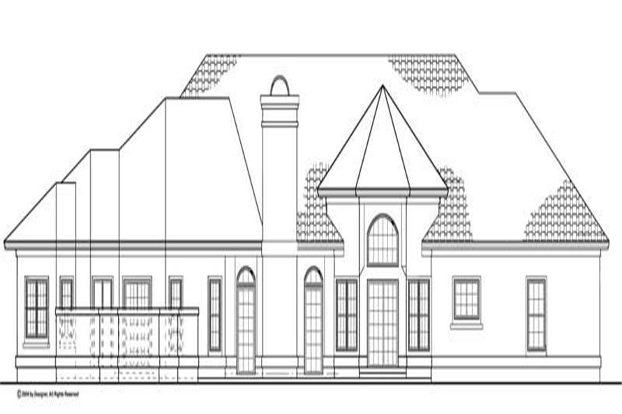 Home Plan Rear Elevation of this 4-Bedroom,2861 Sq Ft Plan -137-1420