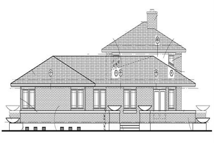 Home Plan Left Elevation of this 3-Bedroom,2626 Sq Ft Plan -137-1421