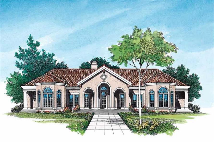 Home Plan Front Elevation of this 4-Bedroom,2831 Sq Ft Plan -137-1423