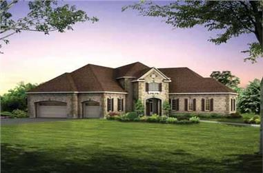 5-Bedroom, 4750 Sq Ft European Home Plan - 137-1424 - Main Exterior