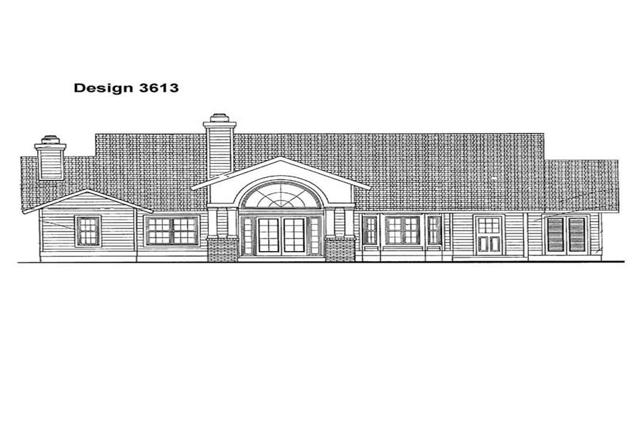 Home Plan Rear Elevation of this 3-Bedroom,2407 Sq Ft Plan -137-1426