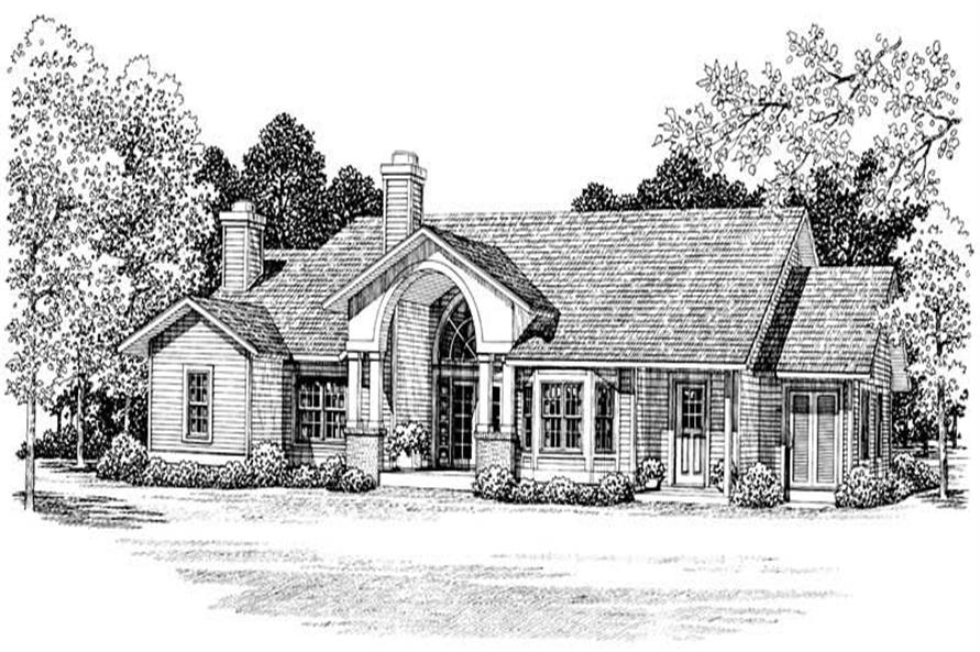 Home Plan Front Elevation of this 3-Bedroom,2407 Sq Ft Plan -137-1426