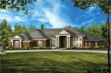 4-Bedroom, 2946 Sq Ft Colonial House Plan - 137-1427 - Front Exterior
