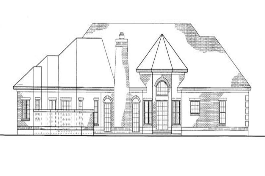 Home Plan Rear Elevation of this 4-Bedroom,2946 Sq Ft Plan -137-1427