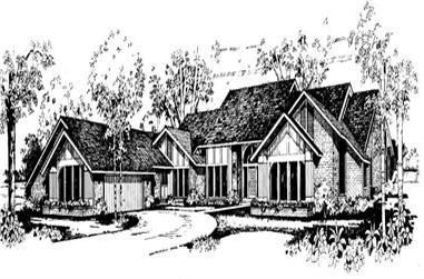 3-Bedroom, 5400 Sq Ft Contemporary Home Plan - 137-1429 - Main Exterior
