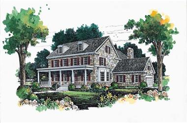 3-Bedroom, 4126 Sq Ft Country House Plan - 137-1431 - Front Exterior