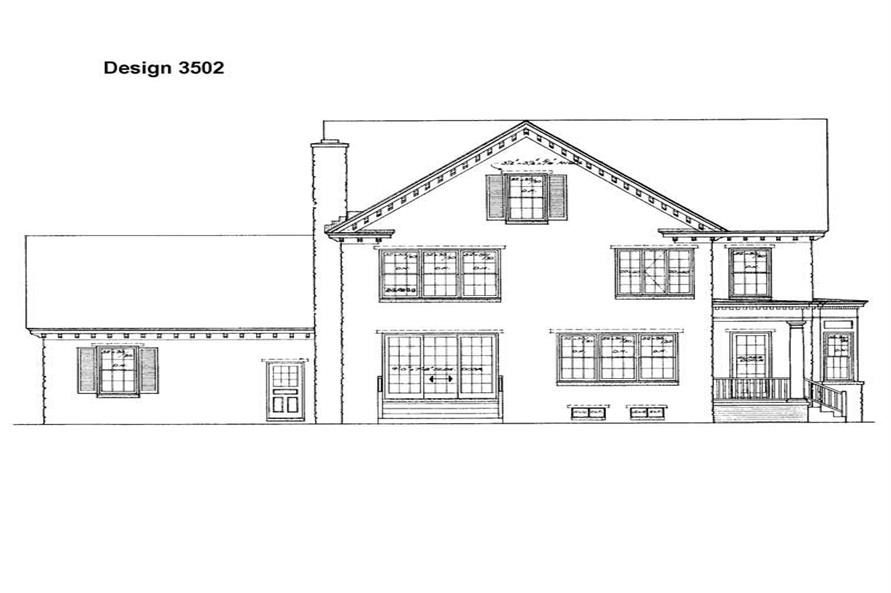 Home Plan Rear Elevation of this 3-Bedroom,4126 Sq Ft Plan -137-1431