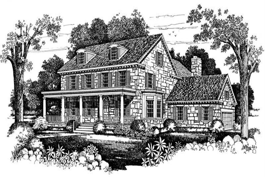 Home Plan Front Elevation of this 3-Bedroom,4126 Sq Ft Plan -137-1431