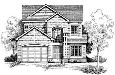 4-Bedroom, 2745 Sq Ft Traditional Home Plan - 137-1432 - Main Exterior