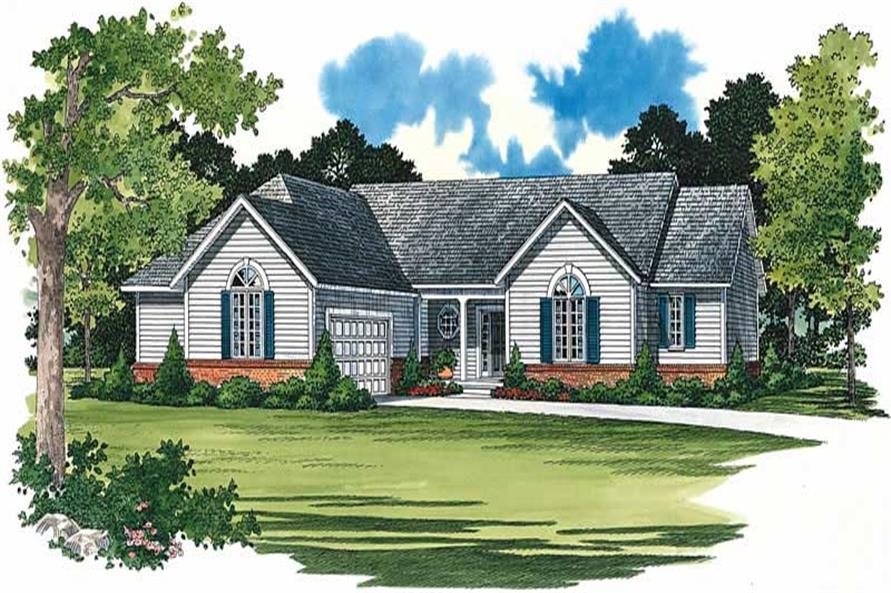 3-Bedroom, 2098 Sq Ft House Plan - 137-1433 - Front Exterior