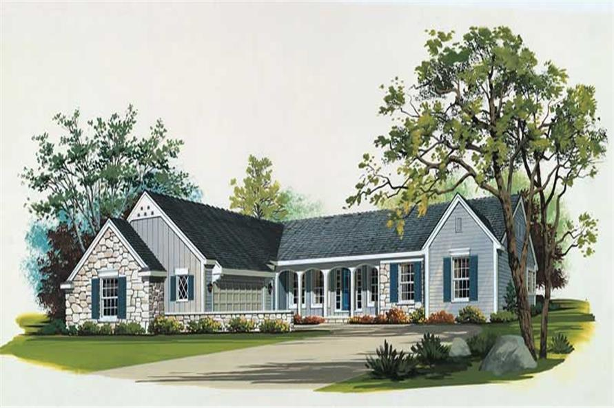 3-Bedroom, 2129 Sq Ft Country Home Plan - 137-1435 - Main Exterior
