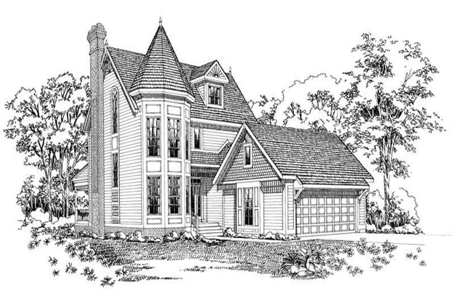 4-Bedroom, 2739 Sq Ft European Home Plan - 137-1439 - Main Exterior