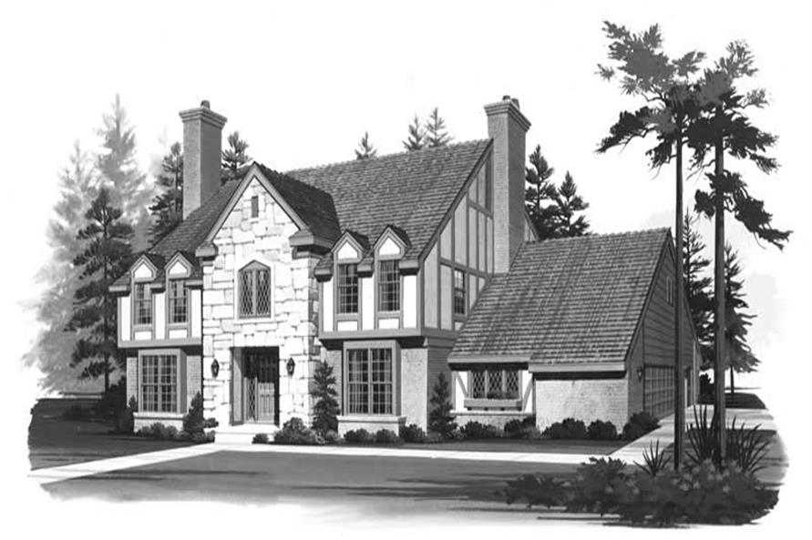 4-Bedroom, 3133 Sq Ft European Home Plan - 137-1440 - Main Exterior