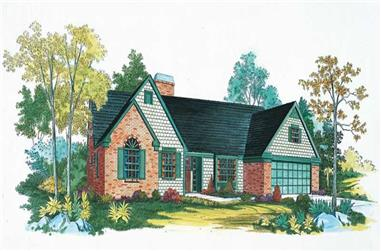 3-Bedroom, 1738 Sq Ft Country House Plan - 137-1441 - Front Exterior