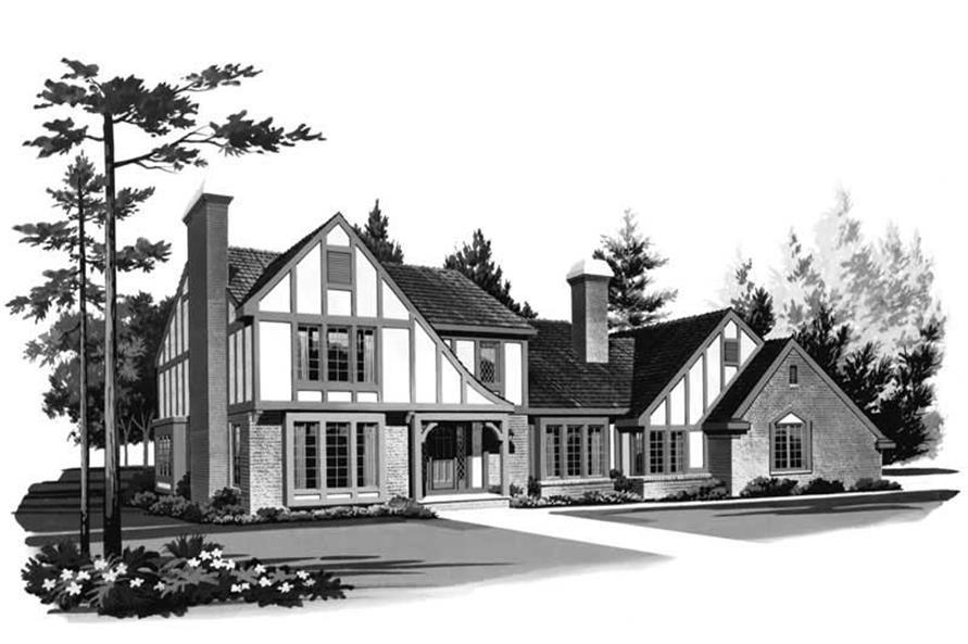 4-Bedroom, 2617 Sq Ft European Home Plan - 137-1442 - Main Exterior