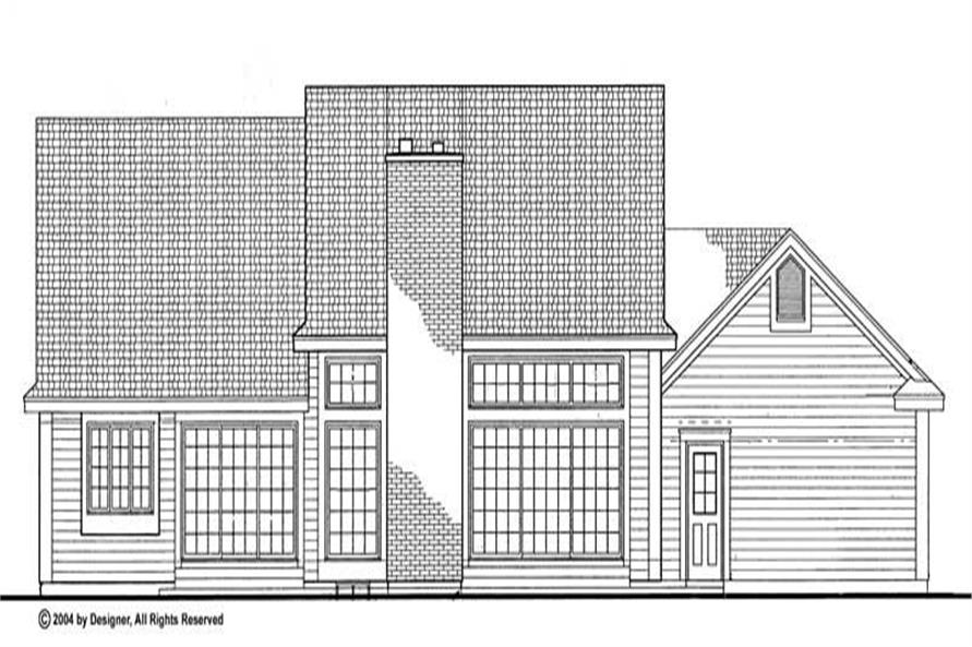 Home Plan Rear Elevation of this 3-Bedroom,1835 Sq Ft Plan -137-1444