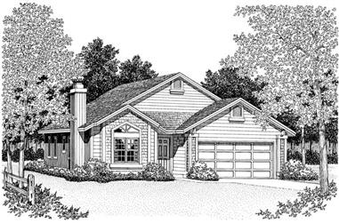 3-Bedroom, 1901 Sq Ft Country House Plan - 137-1445 - Front Exterior
