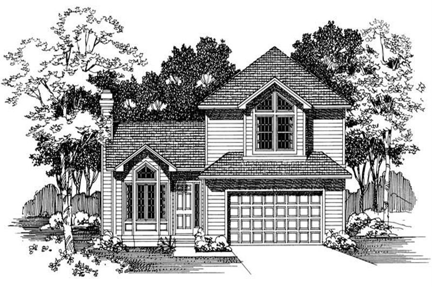 4-Bedroom, 1964 Sq Ft Ranch House Plan - 137-1446 - Front Exterior