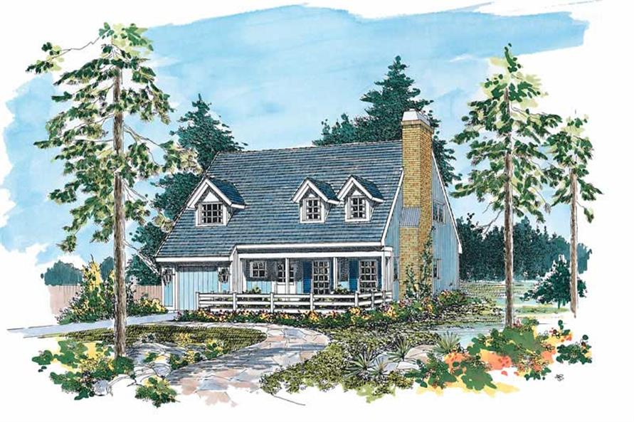 2-Bedroom, 1287 Sq Ft Country Home Plan - 137-1447 - Main Exterior