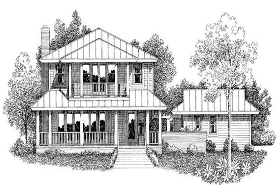 3-Bedroom, 2072 Sq Ft Country House Plan - 137-1448 - Front Exterior