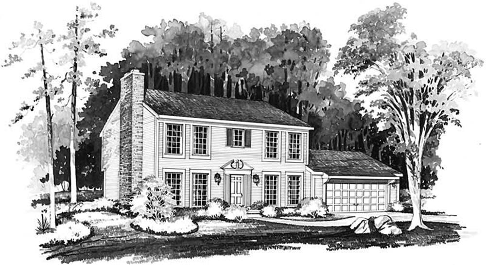 Colonial home (ThePlanCollection: Plan #137-1454)
