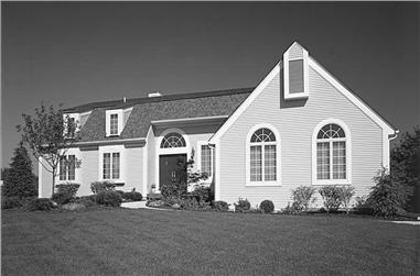 4-Bedroom, 2814 Sq Ft Country Home Plan - 137-1457 - Main Exterior